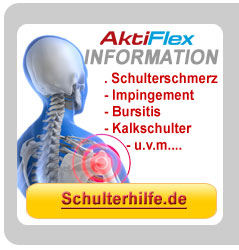 Über Schulterschmerzen, Impingement, Bursitis, Kalkschulter, Schulterhilfe informieren