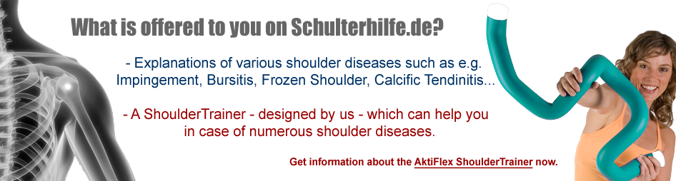 Shoulder pain - we can help you in case of numerous shoulder diseases